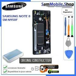 Ecran avec Chassis Samsung Galaxy Note 8 N950F 100% ORIGINAL SAMSUNG Noir