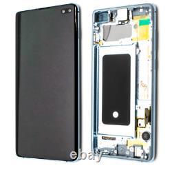 Ecran avec Châssis Samsung Galaxy S10 Plus / G975F 100% ORIGINAL Noir Blanc Vert