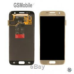 Ecran complet LCD Tactile Colle Samsung Galaxy S7 G930F Gold Original