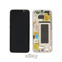 Ecran sur chassis Original Samsung galaxy S8 G950F Noir Bleu Or Argent ou Violet