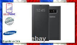 Étui Folio Led View Pour Samsung Galaxy Note 9 Noir Neuf Original France