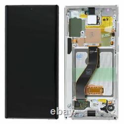 ORIGINAL Display Pantalla LCD Touch Frame Pour Samsung Galaxy Note10 N970F Blanc
