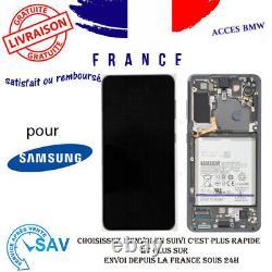 Original Ecran Complet Gris Pour Galaxy S21 5G G991B Avec Chassis Et Batterie