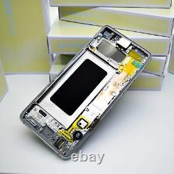 Original SAMSUNG Galaxy S10 G973 Prism Blanc LCD Écran D'Affichage Cadre Neuf