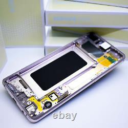 Original SAMSUNG Galaxy S10+G975 Céramique Blanc Affichage LCD Écran Cadre