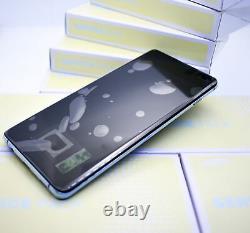 Original SAMSUNG Galaxy S10+G975 Prism Bleu Affichage LCD Écran Cadre Neuf