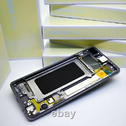 Original SAMSUNG Galaxy S10+G975 Prism Noir LCD Écran D'Affichage Cadre