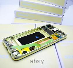 Original SAMSUNG Galaxy S10E G970 Canary Jaune Affichage LCD Écran Cadre Neuf