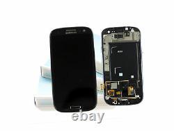 Original SAMSUNG Galaxy S3 Noir i9300 Affichage LCD Cadre Écran Verre Devant