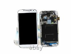 Original SAMSUNG Galaxy S4 Blanc i9505 Affichage LCD Cadre Écran Verre Devant