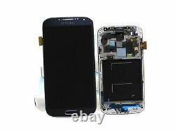 Original SAMSUNG Galaxy S4 Noir i9505 Affichage LCD Cadre Écran Verre Devant