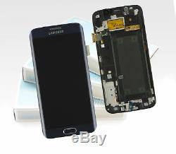 Original SAMSUNG Galaxy S6 Edge Bleu Noir SM-G925F Affichage LCD Écran Neuf