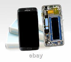 Original SAMSUNG Galaxy S7 EDGE Noir SM-G935F Affichage LCD Écran Cadre