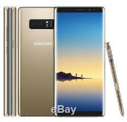 Original Samsung Galaxy Note 8 6.3 64GB Débloqué Téléphone Mobile 12MP Doré