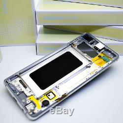 Original Samsung Galaxy S10+G975 Prism Blanc Affichage LCD Écran Cadre