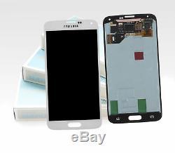 Original Samsung Galaxy S5 Blanc SM-G900F Ecran LCD Cadre Neuf