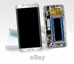 Original Samsung Galaxy S7 Edge Argent SM-G935F Affichage LCD Écran Cadre