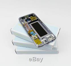 Original Samsung Galaxy S8 Argent G950F Ecran LCD Cadre Edge Neuf