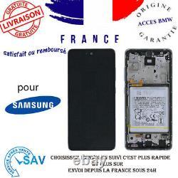 Originale Ecran Blanc Pour Samsung Galaxy A52 5G A525F Avec Châssis et Batterie