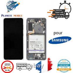 Originale Ecran Complet Gris Pour Galaxy S21 5G G991B Avec Chassis Et Batterie