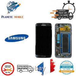 Originale Ecran Complet Noir Pour Samsung Galaxy S7 Edge (G935F) Avec Châssis