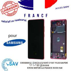 Originale Ecran Complet Rouge Pour Samsung Galaxy S20 FE 5G G781B Avec Châssis