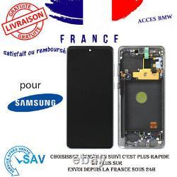Originale Ecran LCD Complet Argent Pour Galaxy Note 10 Lite N770F Avec Châssis