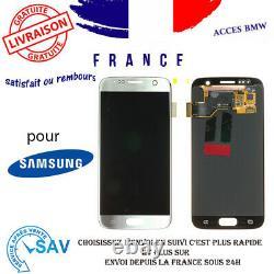Originale Ecran LCD Complet Argent Pour Samsung Galaxy S7 G930F Sans Châssis