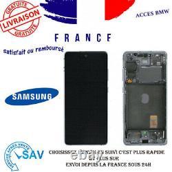 Originale Ecran LCD Complet Blanc Pour Samsung Galaxy S20 FE G780F Avec Châssis