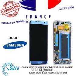 Originale Ecran LCD Complet Bleu Pour Samsung Galaxy S7 edge G935F Avec Châssis