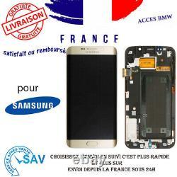 Originale Ecran LCD Complet Or Pour Samsung Galaxy S6 edge G925F