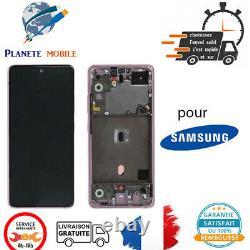 Originale Ecran LCD Complet Rose Pour Samsung Galaxy A51 5G (A516B) Avec Châssis