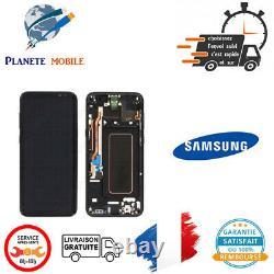 Originale Ecran complet Noir Carbone pour samsung Galaxy S8+ G955F avec châssis