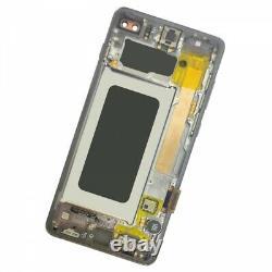 Pantalla Original con Marco para Samsung Galaxy S10 Plus Negro GH82-18849A