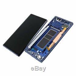 Plein Écran Cadre Samsung Galaxy Note 9 SM-N960F Bleu Original Utilisé