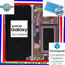 Samsung Écran LCD sur chassi Original Galaxy S9 PLUS G965f noir violet bleu