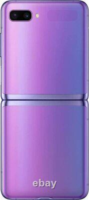 Samsung F700 FDS Galaxy Z Flip 4G+ 256Go Original débloqué Écran Pliable Violet