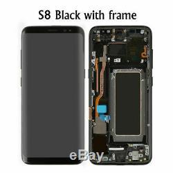 Samsung Galaxy S8 SM-G950F Affichage LCD écran Tactile & Cadre Noir Original