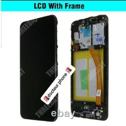 VITRE TACTILE + ECRAN LCD ORIGINAL COMPLET sur chassis GALAXY A20e NOIR A202