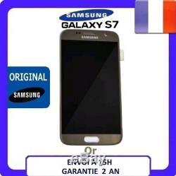 VITRE TACTILE+ ECRAN LCD ORIGINAL SAMSUNG GALAXY S7 OR + Adhésif