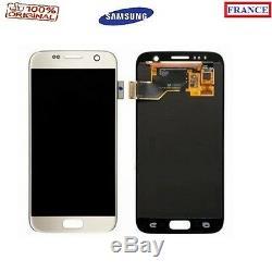 Vitre Tactile Blanc + Ecran LCD Complet Original Samsung Galaxy S7 G930f G930fn