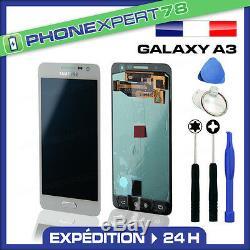Vitre Tactile + Ecran LCD Original Samsung Galaxy A3 Blanc A300f + Outil
