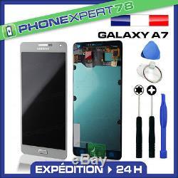 Vitre Tactile + Ecran LCD Original Samsung Galaxy A7 Blanc + Outil