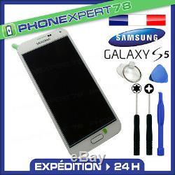 Vitre Tactile + Ecran LCD Original Samsung Galaxy S5 G900f Blanc + Outils