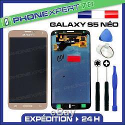 Vitre Tactile + Ecran LCD Original Samsung Galaxy S5 Néo Or Gold + Outils