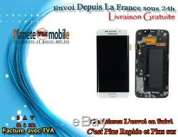 Vitre Tactile + Ecran LCD Original Samsung Galaxy S6 Edge Blanc + Outils