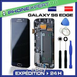 Vitre Tactile + Ecran LCD Original Samsung Galaxy S6 Edge Noir + Outils