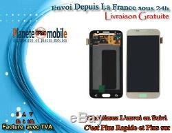 Vitre Tactile + Ecran LCD Original Samsung Galaxy S6 G920f Or Gold + Outils