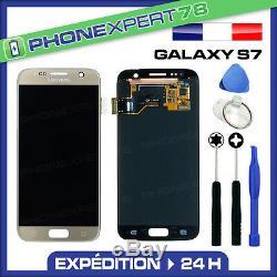 Vitre Tactile + Ecran LCD Original Samsung Galaxy S7 Or Doré Gold+ Outils