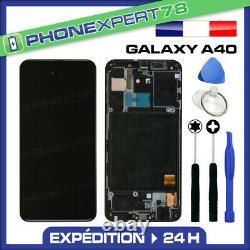 Vitre Tactile Ecran LCD Original Sur Chassis Samsung Galaxy A40 Noir A405